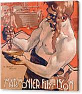 Advertisemet For Marmonier Fils Lyon Canvas Print