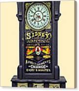 Advertising Clock Canvas Print