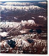 Aeial View Of The Snowy Mountains Canvas Print