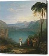 Aeneas And The Cumaean Sybil Canvas Print