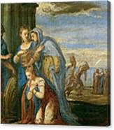 Aeneas Taking Leave Of Dido Canvas Print