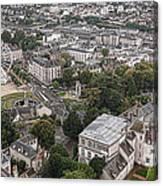 Aerial Chartres Canvas Print