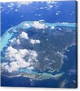 Aerial Over Atoll Canvas Print