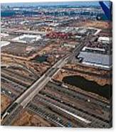 Aerial Over Newark Canvas Print