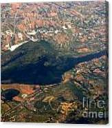 Aerial Photography - Hill Like A Big Mouse  Canvas Print