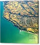 Aerial Photography - Italy Coast Canvas Print