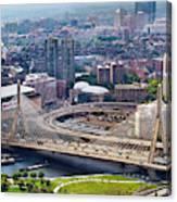 Aerial Shot Of Boston Canvas Print