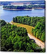 Aerial Summersville Dam And Lake Canvas Print