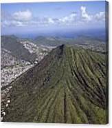 Aerial View Honolulu Hawaii Canvas Print