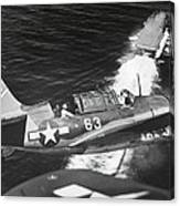 Aerial View Of A Curtiss Helldiver Canvas Print