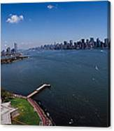 Aerial View Of A Statue, Statue Canvas Print