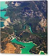 Aerial View Of Andalusia. Spain Canvas Print