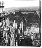 Aerial View Of Central Park Canvas Print