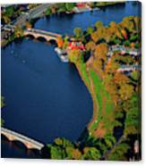 Aerial View Of Charles River With Views Canvas Print