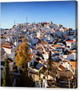 Aerial View Of Comares Village, One Canvas Print