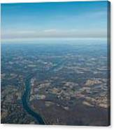 Aerial View Of Earth In Usa Canvas Print