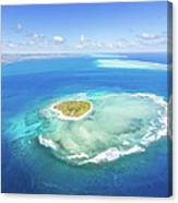Aerial View Of Heart Shaped Island Canvas Print