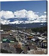Aerial View Of Historic Downtown Truckee California Canvas Print