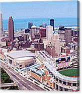 Aerial View Of Jacobs Field, Cleveland Canvas Print