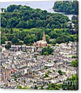 Aerial View Of Keswick In The Lake District Cumbria Canvas Print