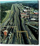Aerial View Of Large Coal Export Canvas Print