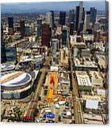 Aerial View Of Los Angeles Canvas Print