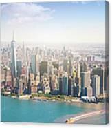Aerial View Of Manhattan - New York Canvas Print