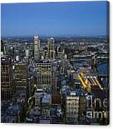 Aerial View Of Melbourne At Night Canvas Print