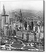 Aerial View Of Nyc Battery Canvas Print