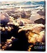 Aerial View Of Pacific Coast Of Bc Canada Canvas Print