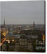 Aerial View Of Riga Canvas Print