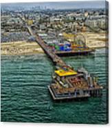 Aerial View Of Santa Monica Pier Canvas Print