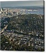 Aerial View Of Seattle Canvas Print