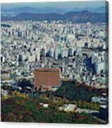 Aerial View Of Seoul South Korea Canvas Print