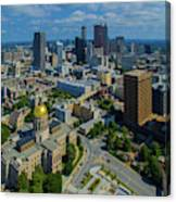 Aerial View Of Skyline And Georgia Canvas Print