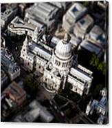 Aerial View Of St Pauls Cathedral Canvas Print