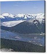 Aerial View Of Taku River, Taku Glacier Canvas Print