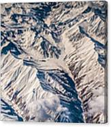 Aerial View Of The Mountains Canvas Print
