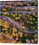 Aerial View Of Vrsic Mountain Pass Canvas Print