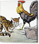 Aesop: Cat, Cock, And Mouse Canvas Print