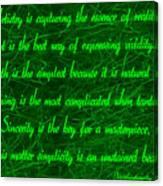 Aesthetic Quote 1 Canvas Print