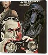 Afghan Hound Art - Rear Window Movie Poster Canvas Print