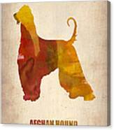 Afghan Hound Poster Canvas Print