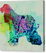 Afghan Hound Watercolor Canvas Print