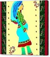 Afghan Pregnant Woman Canvas Print