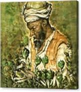 Afghani Harvest - Watercolor Canvas Print