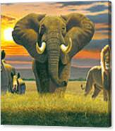 Africa Triptych Variant Canvas Print