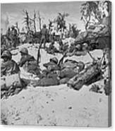 African American Marines Move Canvas Print