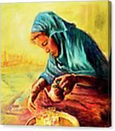 African Chai Tea Lady. Canvas Print