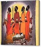 African Christmas Nativity Canvas Print